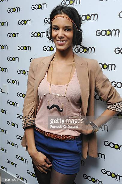 Singer Shy'm performs during an unplugged Showcase at Goom Radio on March 24 2011 in Paris France