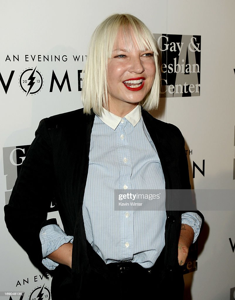 Singer Sia arrives at An Evening With Women benefiting The L.A. Gay & Lesbian Center at the Beverly Hilton Hotel on May 18, 2013 in Beverly Hills, California.