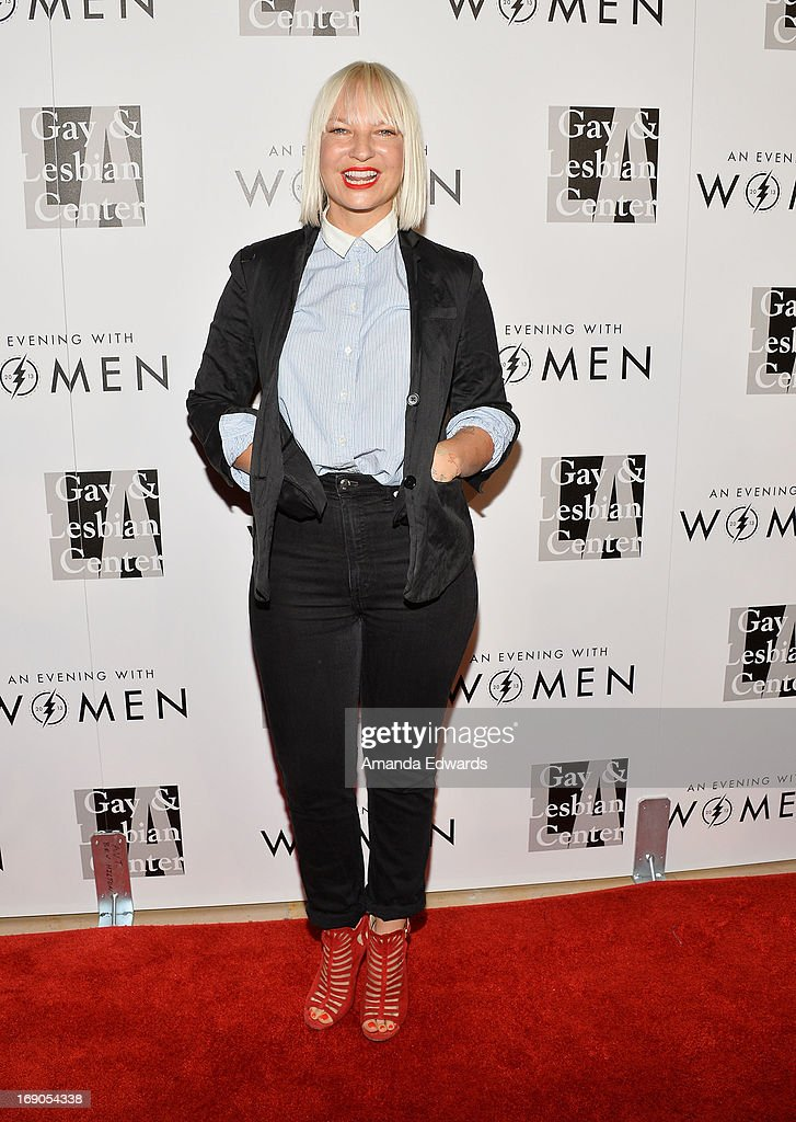 Singer Sia arrives at the L.A. Gay & Lesbian Center's 2013 'An Evening With Women' Gala at The Beverly Hilton Hotel on May 18, 2013 in Beverly Hills, California.