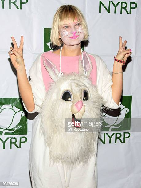 Singer Sia attends Bette Midler's New York Restoration Project Annual Hulaween at The Waldorf Astoria Hotel on October 30 2009 in New York City