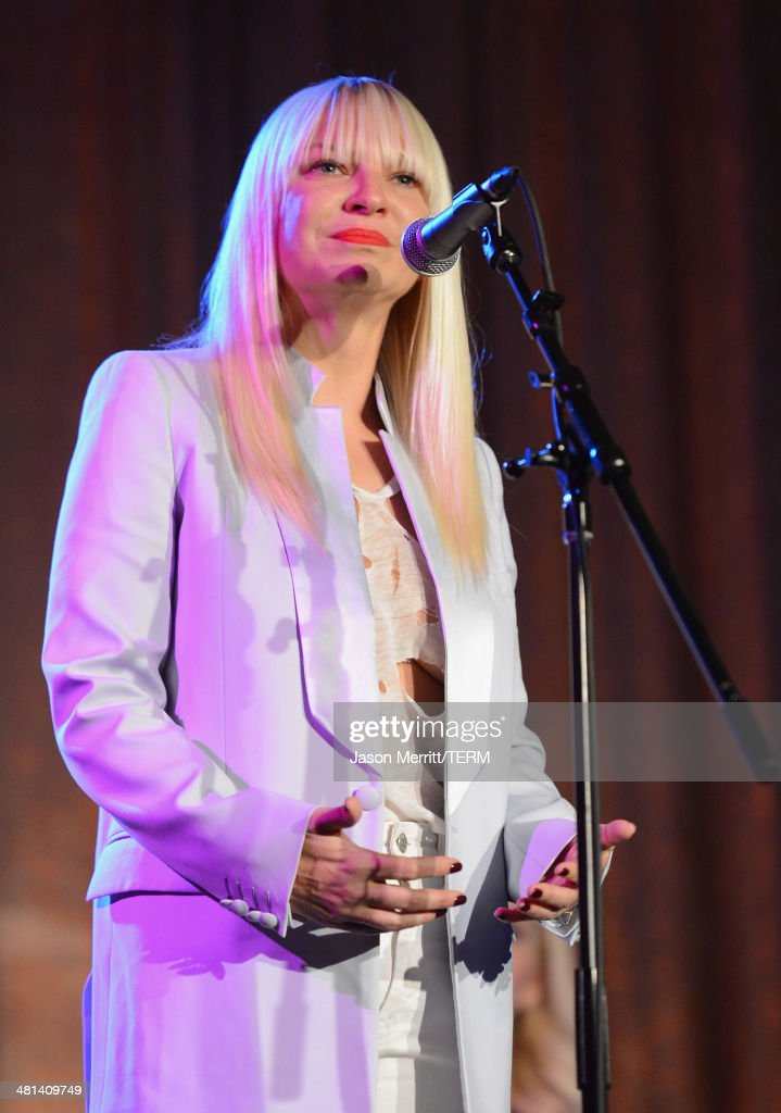Singer Sia performs onstage at the Humane Society of The United States 60th Anniversary Gala at The Beverly Hilton Hotel on March 29, 2014 in Beverly Hills, California.