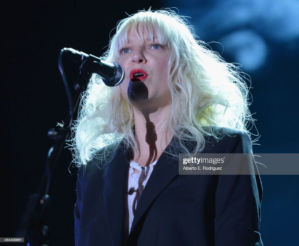 Singer Sia performs onstage at 'TrevorLIVE LA' honoring Jane Lynch and Toyota for the Trevor Project at Hollywood Palladium on December 8, 2013 in Hollywood, California.