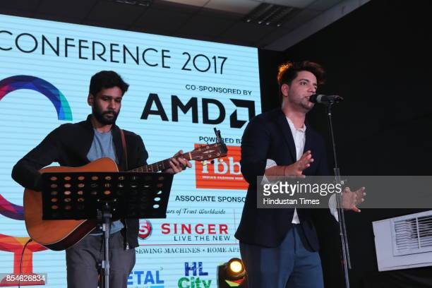Singer Siddharath Shukla during the seventh edition of Shri Ram College of Commerce Youth Conference to inspire students on September 23 2017 in New...
