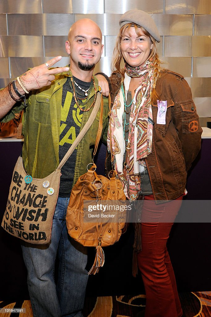 Singer Sie7e (L) and wife Jessica Rodriguez attend the 12th Annual Latin GRAMMY Awards Gift Lounge Day 1 held at the Mandalay Bay Events Center on November 8, 2011 in Las Vegas, Nevada.