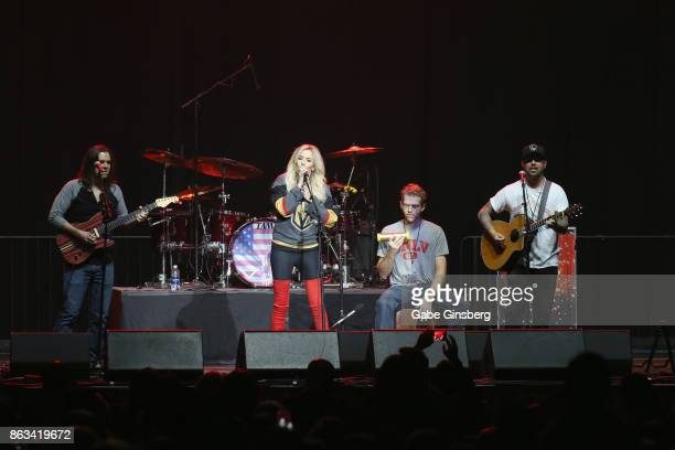 Singer Sierra Black performs during 'Vegas Strong A Night of Healing' at the Orleans Arena on October 19 2017 in Las Vegas Nevada The concert...