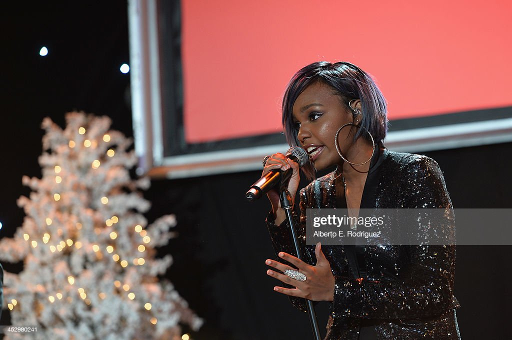 Singer Sierra McClain performs at the 82nd Annual Hollywood Christmas Parade on December 1, 2013 in Hollywood, California.