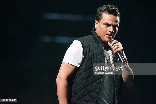 Singer Silvestre Dangond performs at Barclays Center on February 15 2014 in the Brooklyn borough of New York City