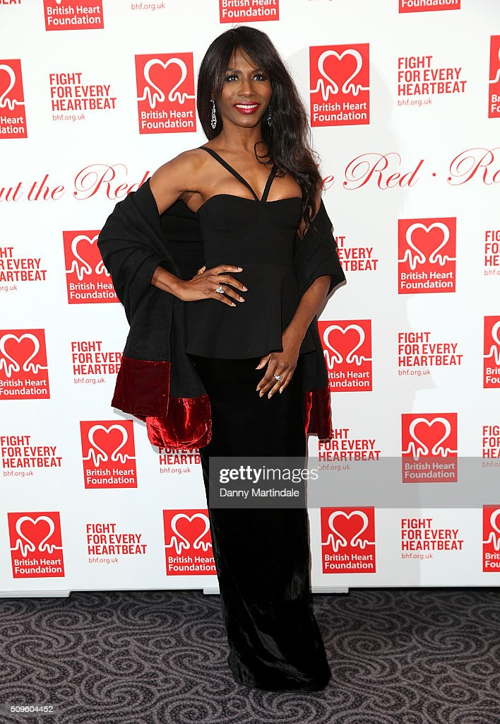 Singer <a gi-track='captionPersonalityLinkClicked' href=/galleries/search?phrase=Sinitta&family=editorial&specificpeople=1797588 ng-click='$event.stopPropagation()'>Sinitta</a> attends the British Heart Foundation: Roll Out The Red Ball at The Savoy Hotel on February 11, 2016 in London, England.