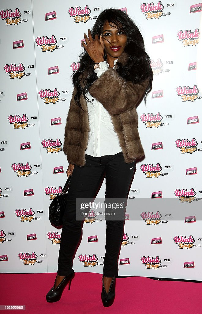 Singer <a gi-track='captionPersonalityLinkClicked' href=/galleries/search?phrase=Sinitta&family=editorial&specificpeople=1797588 ng-click='$event.stopPropagation()'>Sinitta</a> attends the Wink Bingo Celebrity Female Take Over on March 18, 2013 in London, England.