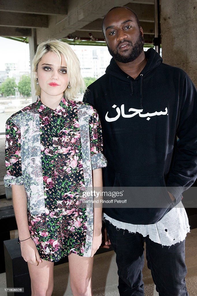 Singer <a gi-track='captionPersonalityLinkClicked' href=/galleries/search?phrase=Sky+Ferreira&family=editorial&specificpeople=6740166 ng-click='$event.stopPropagation()'>Sky Ferreira</a> and Virgil Abloh attend Givenchy Menswear Spring/Summer 2014 Show as part of the Paris Fashion Week, held at City of Fashion and Design on June 28, 2013 in Paris, France.