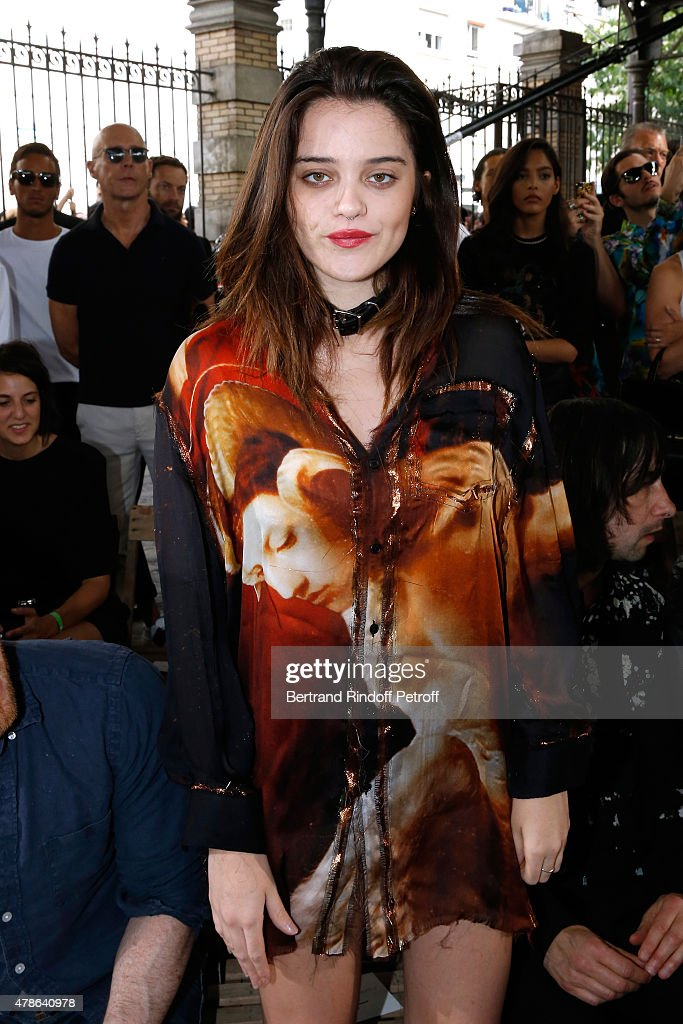 Singer Sky Ferreira attends the Givenchy Menswear Spring/Summer 2016 show as part of Paris Fashion Week on June 26, 2015 in Paris, France.