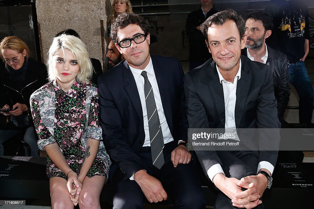 Singer <a gi-track='captionPersonalityLinkClicked' href=/galleries/search?phrase=Sky+Ferreira&family=editorial&specificpeople=6740166 ng-click='$event.stopPropagation()'>Sky Ferreira</a>, CEO of Givenchy Couture Sebastian Suhl and Chairman and CEO of LVMH Fashion Division Pierre-Yves Roussel attend Givenchy Menswear Spring/Summer 2014 Show as part of the Paris Fashion Week, held at City of Fashion and Design on June 28, 2013 in Paris, France.