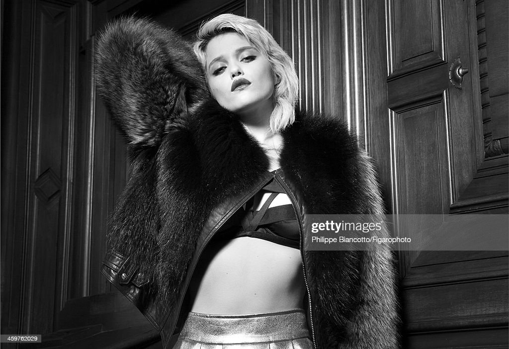 108317-07. Singer <a gi-track='captionPersonalityLinkClicked' href=/galleries/search?phrase=Sky+Ferreira&family=editorial&specificpeople=6740166 ng-click='$event.stopPropagation()'>Sky Ferreira</a> is photographed for Madame Figaro on November 4, 2013 in Paris, France. Coat (Givenchy par Riccardo Tisci), bra (Agent Provocateur). PUBLISHED IMAGE.