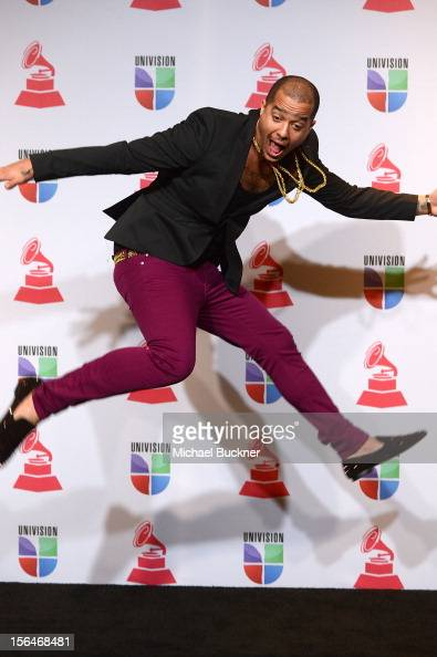 Singer Skyblu poses in the press room during the 13th annual Latin GRAMMY Awards held at the Mandalay Bay Events Center on November 15 2012 in Las...