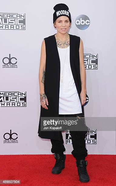 Singer Skylar Grey arrives at the 2014 American Music Awards at Nokia Theatre LA Live on November 23 2014 in Los Angeles California