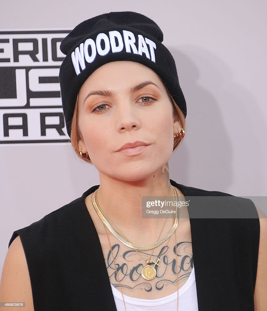Singer Skylar Grey arrives at the 2014 American Music Awards at Nokia Theatre L.A. Live on November 23, 2014 in Los Angeles, California.