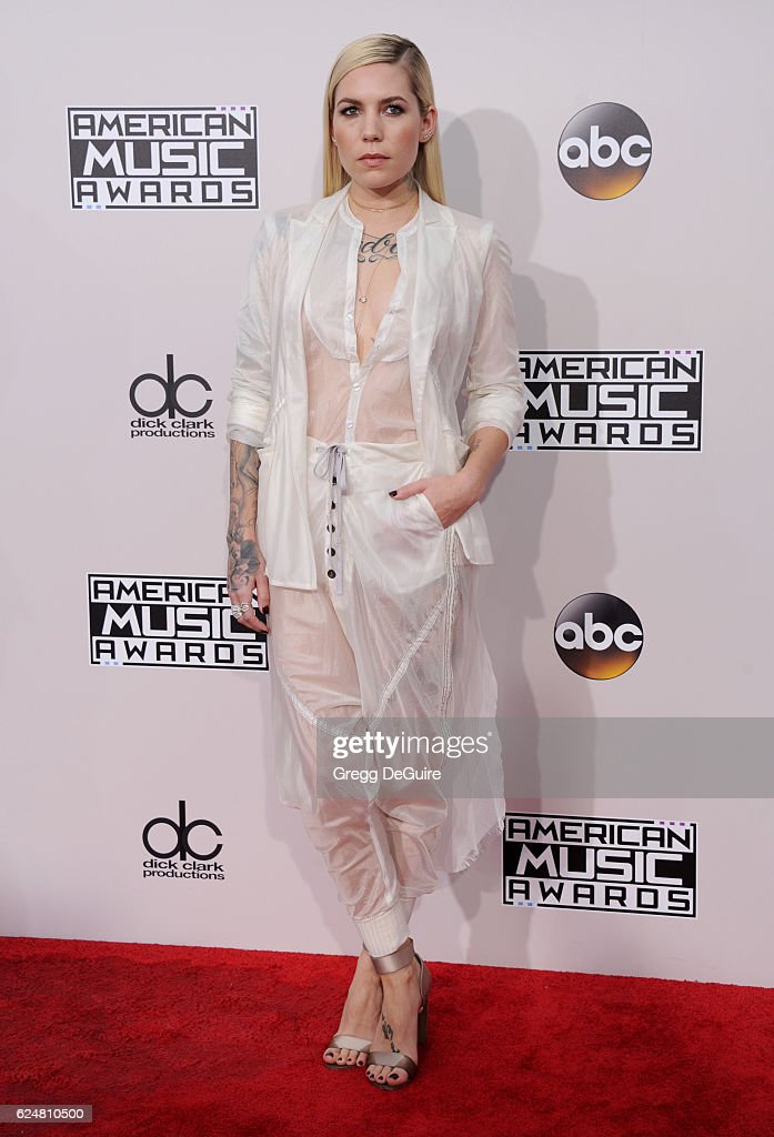 Singer Skylar Grey arrives at the 2016 American Music Awards at Microsoft Theater on November 20, 2016 in Los Angeles, California.