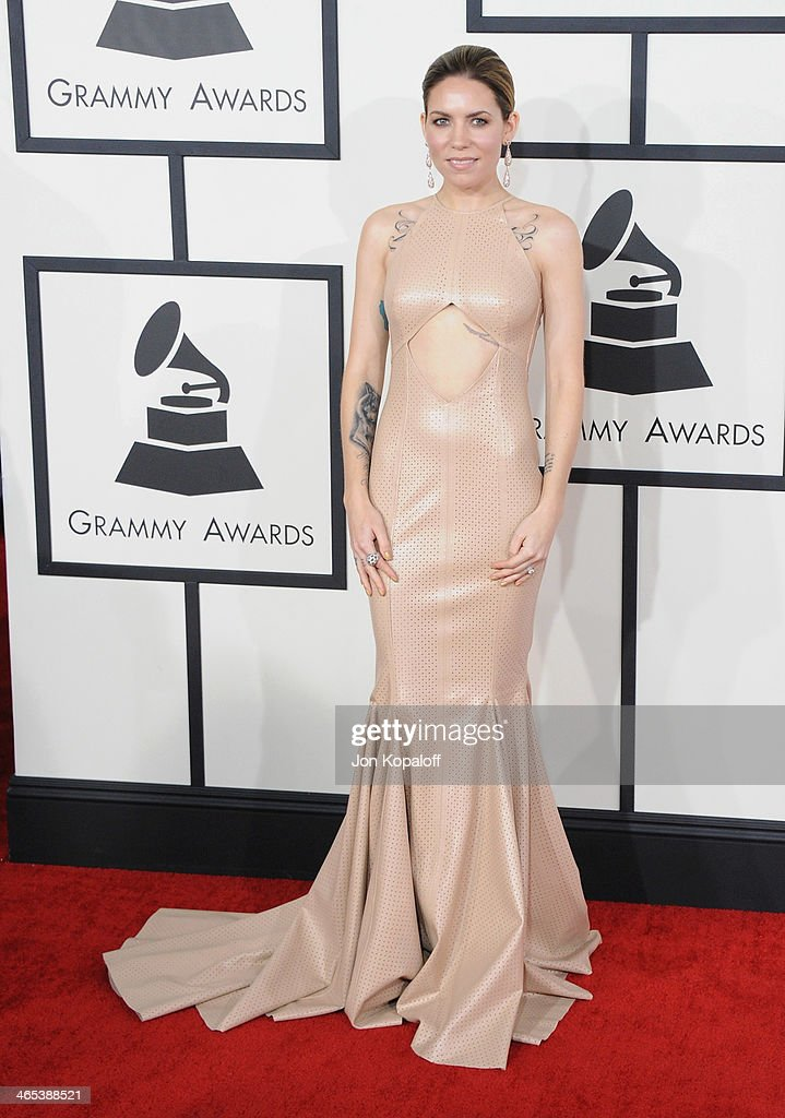 Singer Skylar Grey arrives at the 56th GRAMMY Awards at Staples Center on January 26, 2014 in Los Angeles, California.