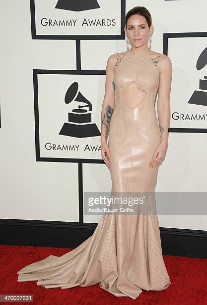 Singer Skylar Grey arrives at the 56th GRAMMY Awards at Staples Center on January 26 2014 in Los Angeles California