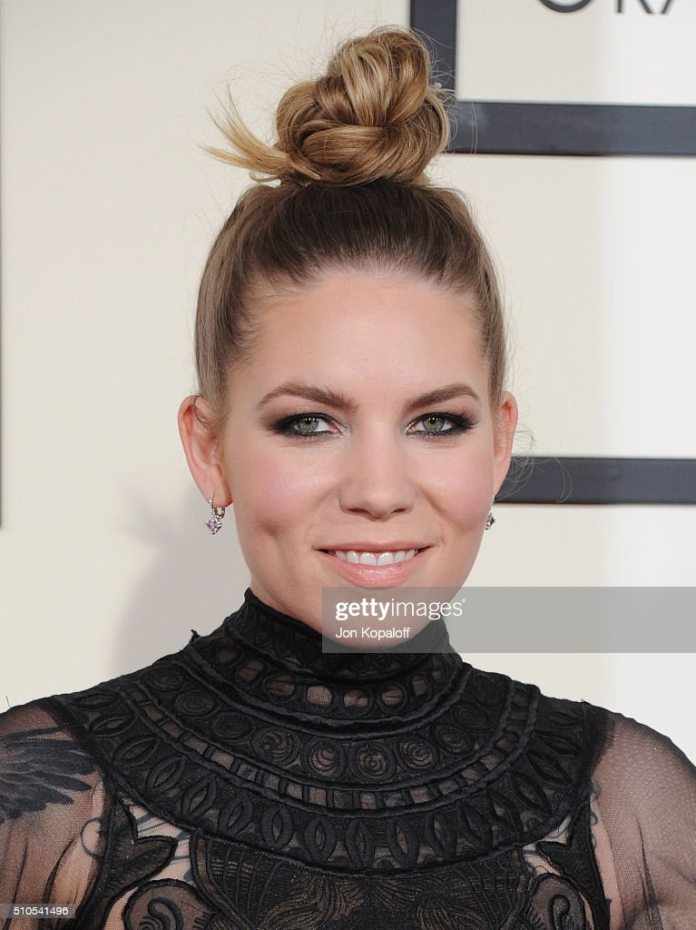Singer Skylar Grey arrives at The 58th GRAMMY Awards at Staples Center on February 15, 2016 in Los Angeles, California.