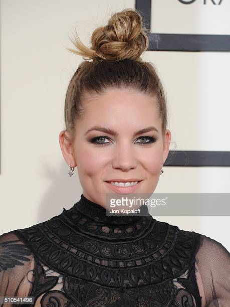 Singer Skylar Grey arrives at The 58th GRAMMY Awards at Staples Center on February 15 2016 in Los Angeles California