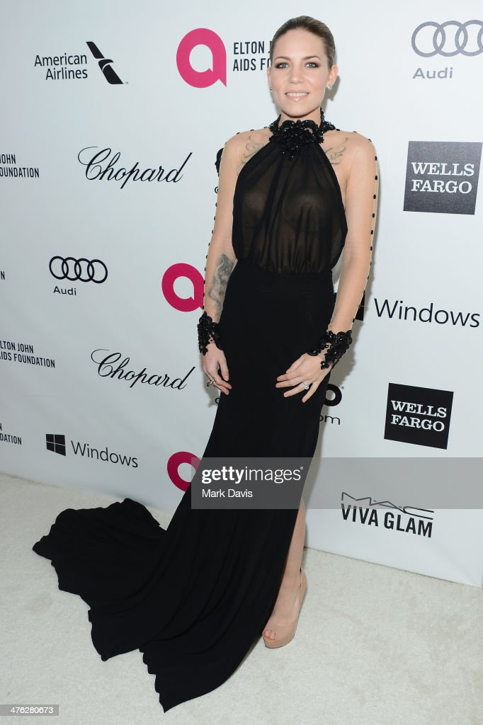 Singer Skylar Grey attends the 22nd Annual Elton John AIDS Foundation's Oscar Viewing Party on March 2, 2014 in Los Angeles, California.