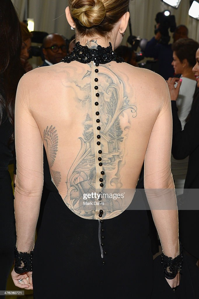 Singer Skylar Grey (tattoo detail) attends the 22nd Annual Elton John AIDS Foundation's Oscar Viewing Party on March 2, 2014 in Los Angeles, California.