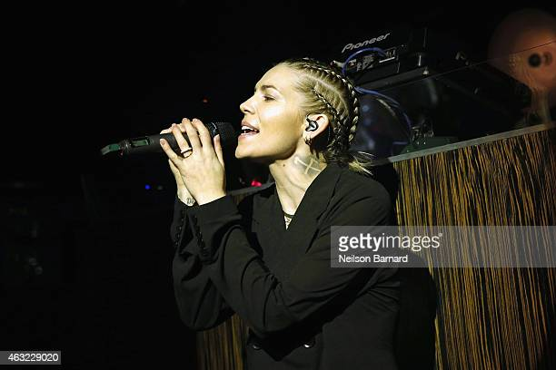 Singer Skylar Grey performs at E 'Fashion Police' and NYLON kickoff New York Fashion Week with a 50 Shades of Fashion event in celebration of the...