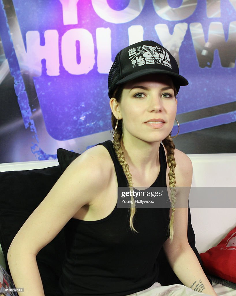 Singer <a gi-track='captionPersonalityLinkClicked' href=/galleries/search?phrase=Skylar+Grey+-+Singer&family=editorial&specificpeople=4349722 ng-click='$event.stopPropagation()'>Skylar Grey</a> visits the Young Hollywood Studio on February 12, 2013 in Los Angeles, California.