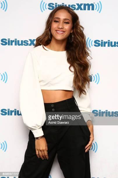 Singer Skylar Stecker visits the SiriusXM Studios on August 24 2017 in New York City