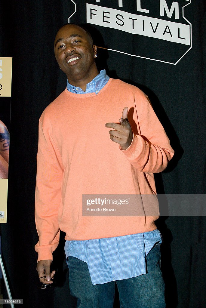 B singer Slim of the group 112 arrives at the Atlanta Film Festival for VH1's premier of 'Last Days of Left Eye' on April 19 2007 in Atlanta Georgia