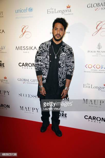 Singer Slimane attends Global Gift Gala 2017 at Hotel George V on May 16 2017 in Paris France