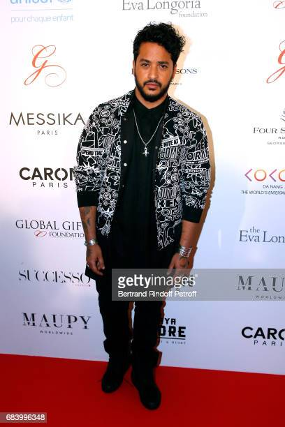 Singer Slimane attends the 'Global Gift the Eva Foundation' Gala Photocall at Hotel George V on May 16 2017 in Paris France