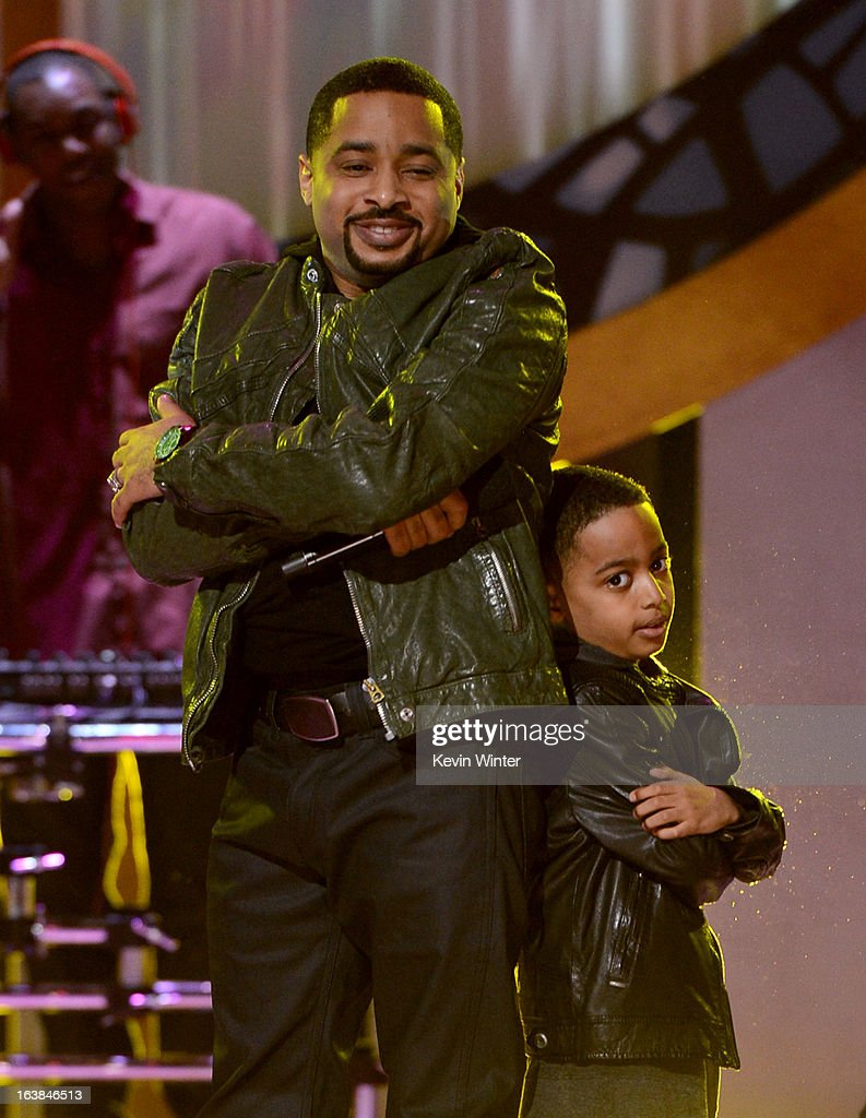 Singer Smokie Norful (L) and son Ashton Norful perform onstage during the BET Celebration of Gospel 2013 at Orpheum Theatre on March 16, 2013 in Los Angeles, California.