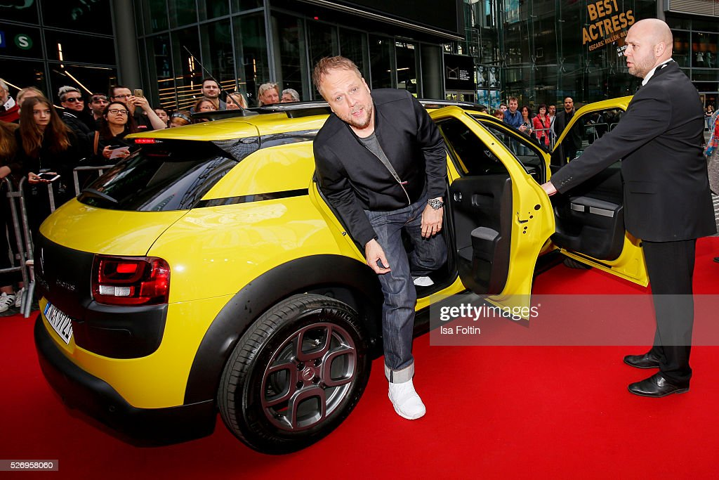 Singer Smudo arrives at the red carper at the Berlin premiere of the film 'Angry Birds - Der Film' at CineStar on May 1, 2016 in Berlin, Germany.