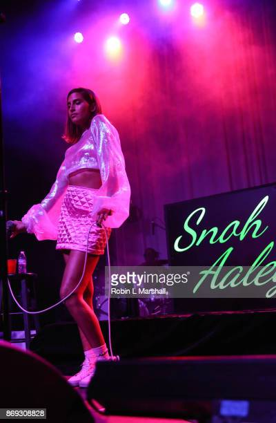 Singer Snoh Aalegra performs at The Fonda Theatre on November 1 2017 in Los Angeles California