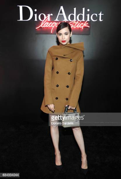 Singer Sofia Carson attends Dior Beauty celebrates the launch of Dior Addict Lacquer Stick in the presence of Peter Philips in LA at Delilah on...