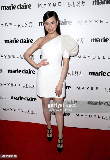 Singer Sofia Carson attends Marie Claire's 'Fresh Faces' celebration with an event sponsored by Maybelline at Doheny Room on April 21 2017 in West...