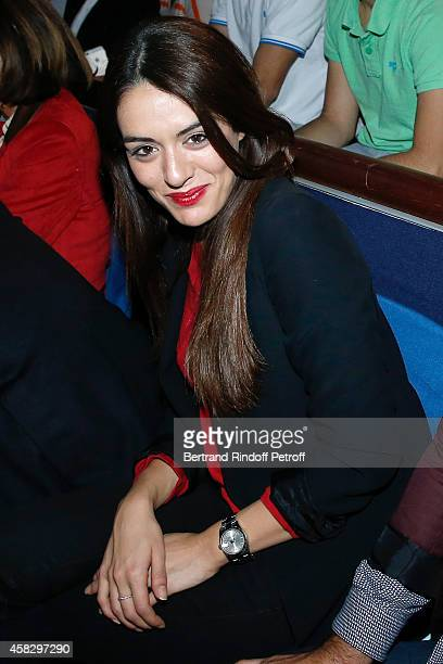Singer Sofia Essaidi attends the Final match during day 7 of the BNP Paribas Masters Held at Palais Omnisports de Bercy on November 2 2014 in Paris...