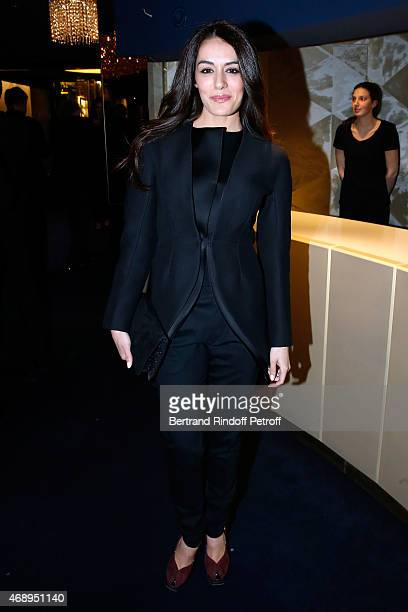 Singer Sofia Essaidi attends the 'Paris Merveilles' Lido New Revue Opening Gala on April 8 2015 in Paris France