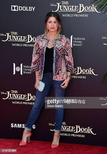 Singer Sofia Reyes attends the premiere of Disney's 'The Jungle Book' at the El Capitan Theatre on April 4 2016 in Hollywood California