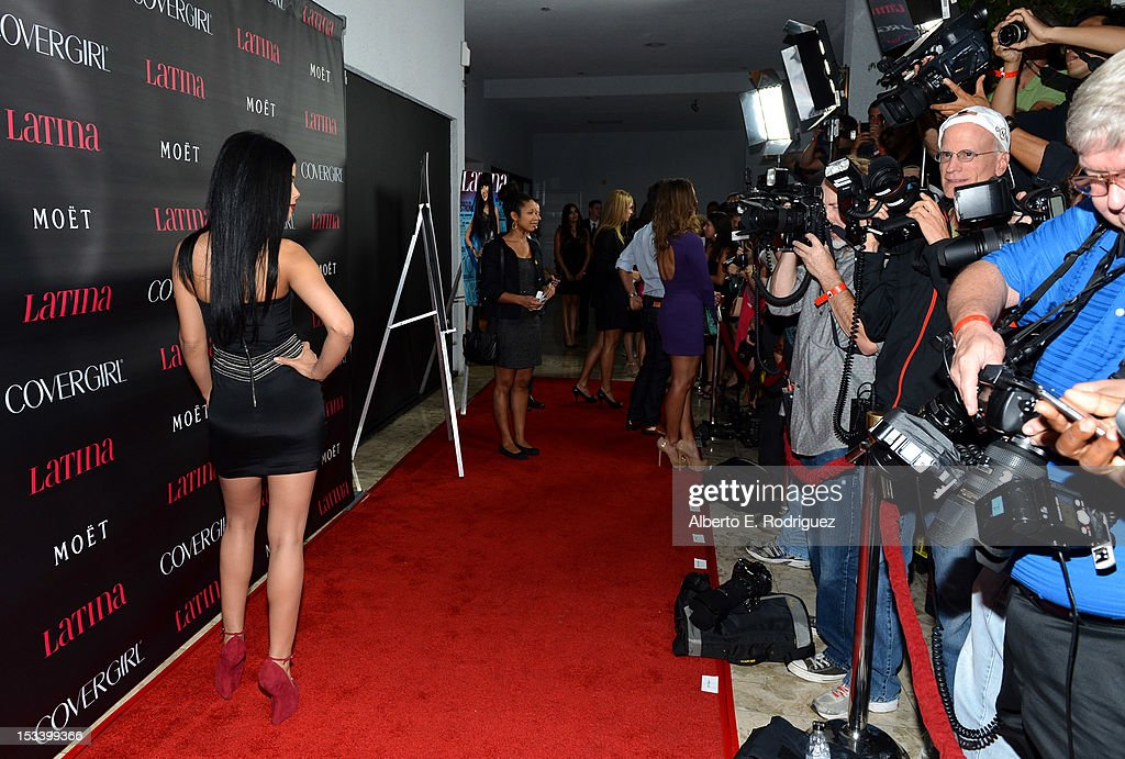Singer Sohanny arrives at the 'Latinos In Hollywood' celebration with Latina Magazine at The London West Hollywood on October 4 2012 in West...