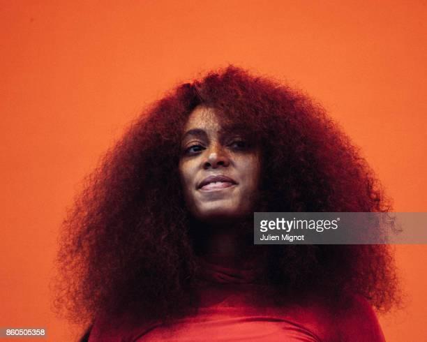 Singer Solange is photographed for We Love Art on June 2017 in Paris France