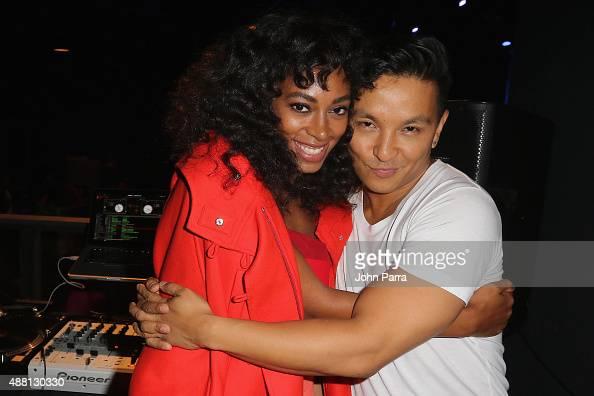 Singer Solange Knowles and Fashion Designer Prabal Garung attend Prabal Garung at Lexus Design Disrupted at Skylight at Moynihan Station on September...