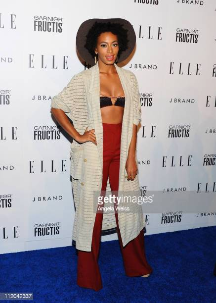 Singer Solange Knowles arrives at ELLE's 2nd Annual Women In Music Event at Music Box on April 11 2011 in Hollywood California