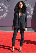 Singer Solange Knowles arrives at the 2014 MTV Video Music Awards at The Forum on August 24 2014 in Inglewood California