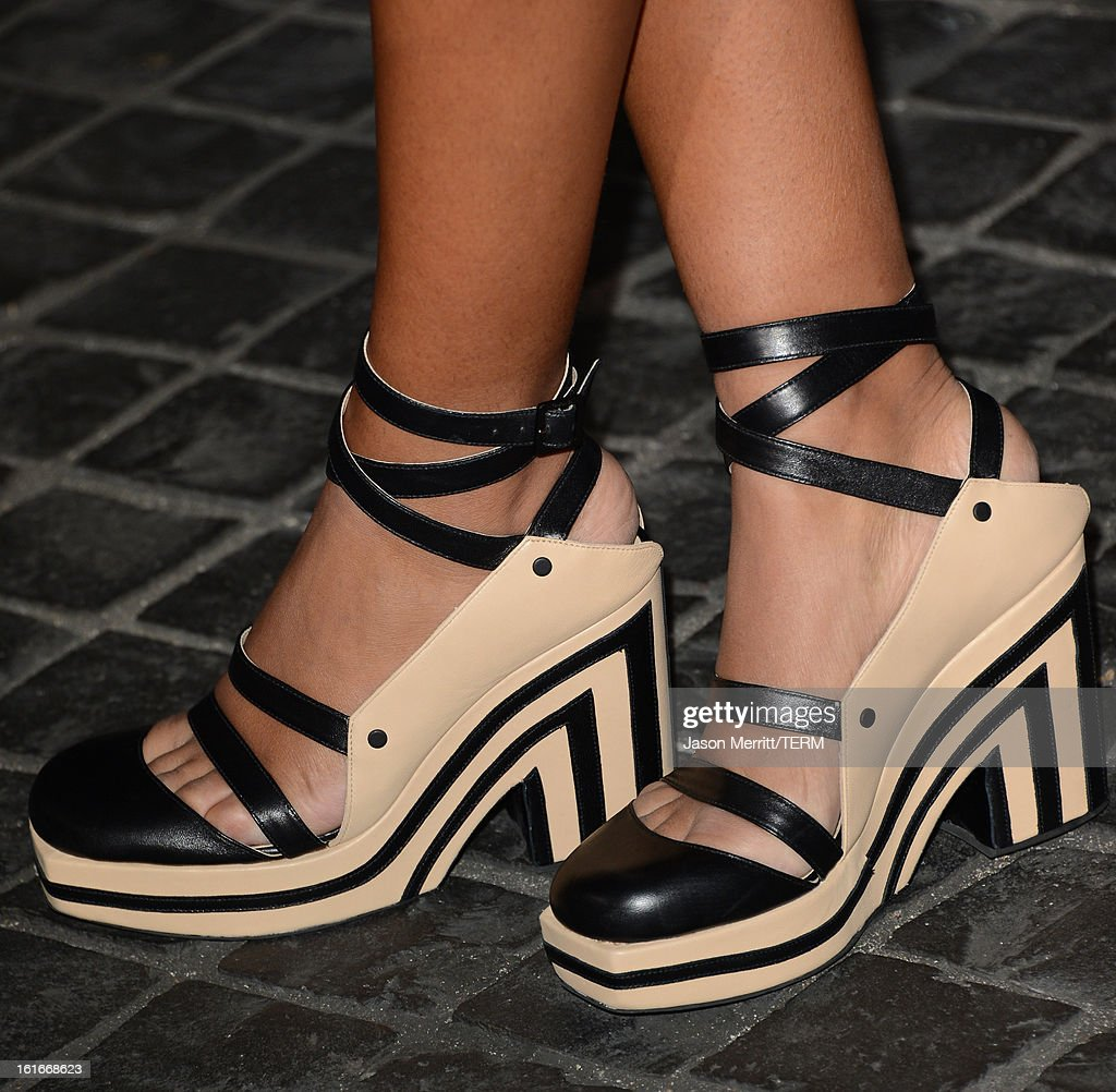Singer Solange Knowles arrives at the Topshop Topman LA Opening Party at Cecconi's West Hollywood on February 13, 2013 in Los Angeles, California.