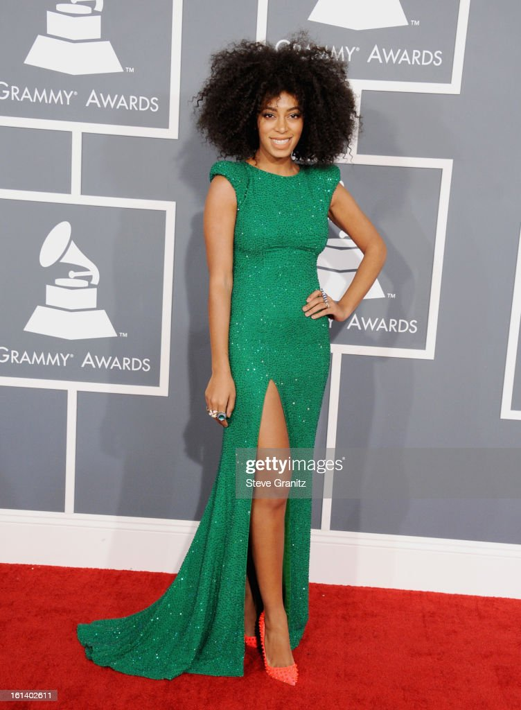 Singer Solange Knowles attends the 55th Annual GRAMMY Awards at STAPLES Center on February 10, 2013 in Los Angeles, California.