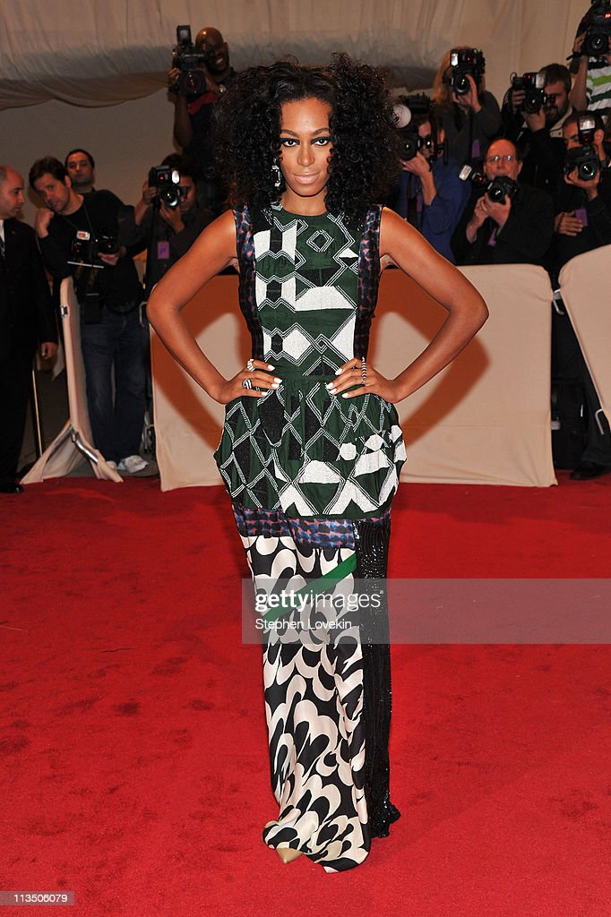Singer Solange Knowles attends the 'Alexander McQueen: Savage Beauty' Costume Institute Gala at The Metropolitan Museum of Art on May 2, 2011 in New York City.