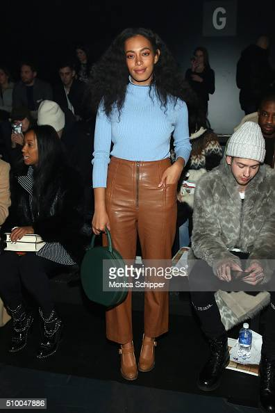 Singer Solange Knowles attends the Baja East Fall 2016 fashion show during New York Fashion Week The Shows at The Dock Skylight at Moynihan Station...